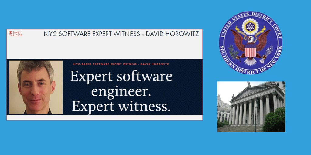 Interview with Software Developer and Expert Witness David Horowitz